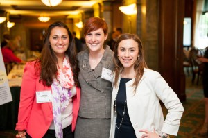Rachel (right) and Reda (center) with Fellow Board Member Ashley Donahue