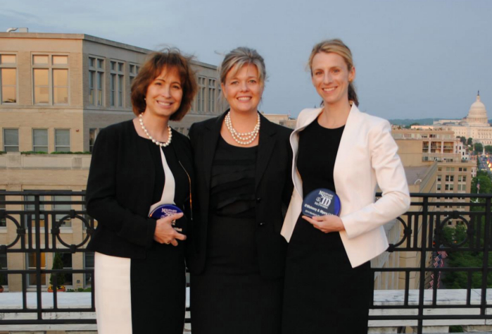 Judge Patricia Millett, MSJDN Outgoing President Mary Reding, and MSJDN Sarah Zdeb at the 2014 MSJDN Annual Reception