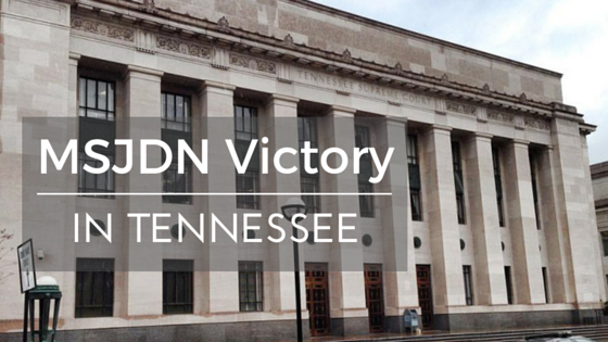 Victory in Tennessee